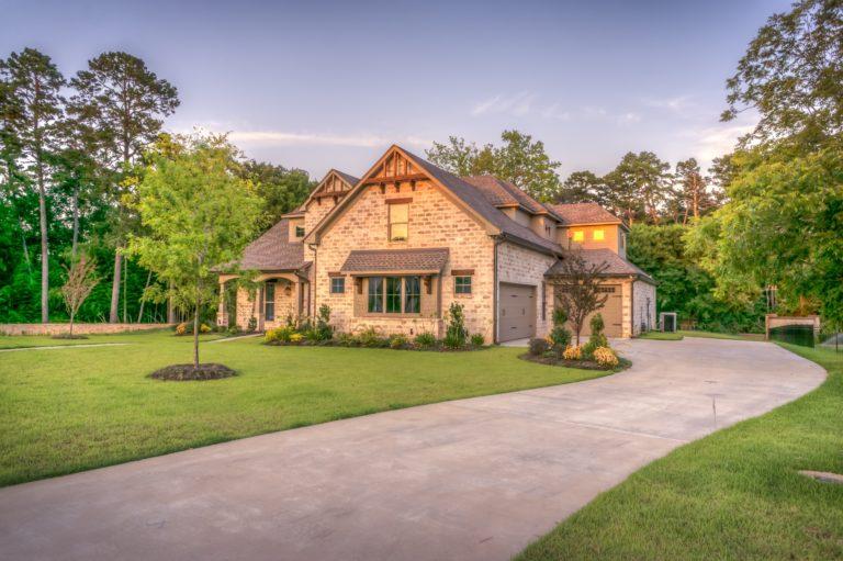 lawncare brick home